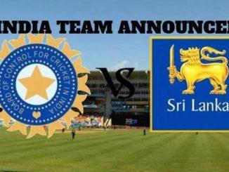 India Squad announced