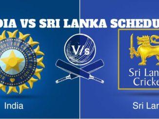 India vs Sri Lanka Schedule