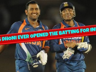 dhoni opening the batting