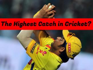 Highest Catch in Cricket