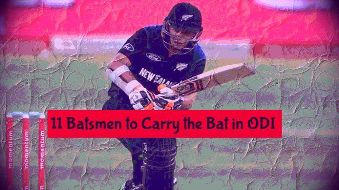 Players whoi carried the bat in ODI