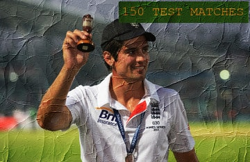 alastair cook 150 test match