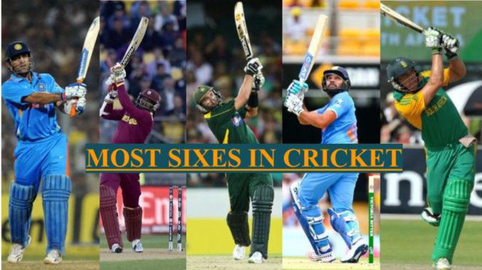 most sixes in odi tests t20 top 10 batsmen
