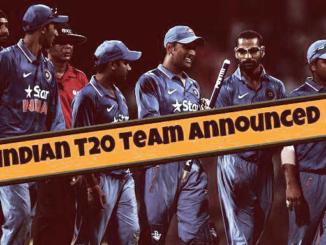 indian t20 team announced