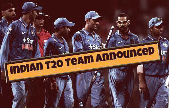 indian t20 team announced