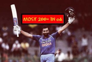 List of Double Centuries in ODI – Rohit Sharma added one more to his name.