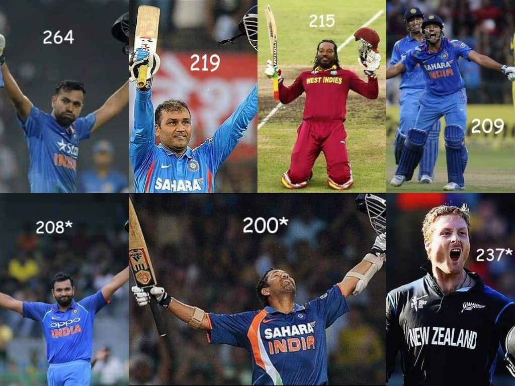 players with double centuries in ODI