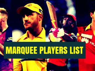 Marquee players list ipl auction 2018