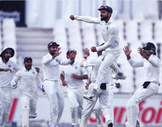 Indian team after 3rd Test win against South Africa