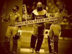 Most Runs after 100 ODI Matches