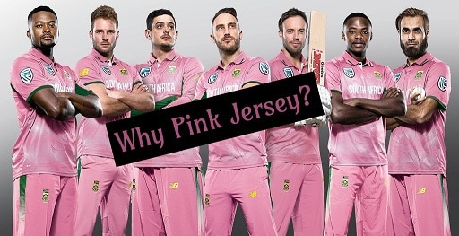 South Africa Players in Pink Jersey